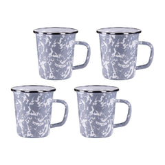 GY66S4 - Set of 4 Grey Swirl Latte Mugs Image 1