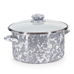 GY72 - Grey Swirl Pattern - 6qt Stock Pot