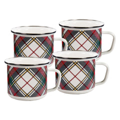 HP28S4 - Set of 4 Highland Plaid Grande Mugs Image 1