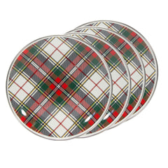 HP69S4 - Set of 4 Highland Plaid Sandwich Plates Image 1