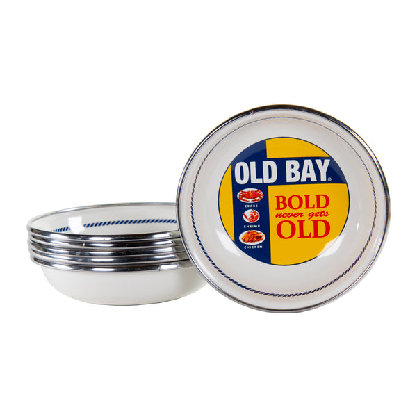 OB59S6 - Set of 6 - Old Bay - Enamelware - Tasting Dishes by Golden Rabbit