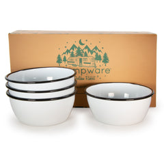 RBW93 - Rolled Black Rim Bowl Set/4 Image 1