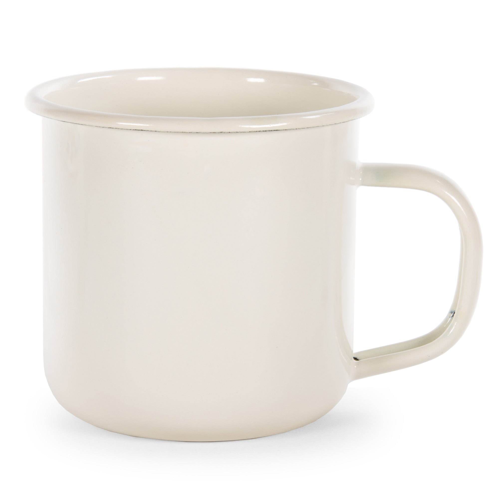 Rolled Cream Mug Set/4