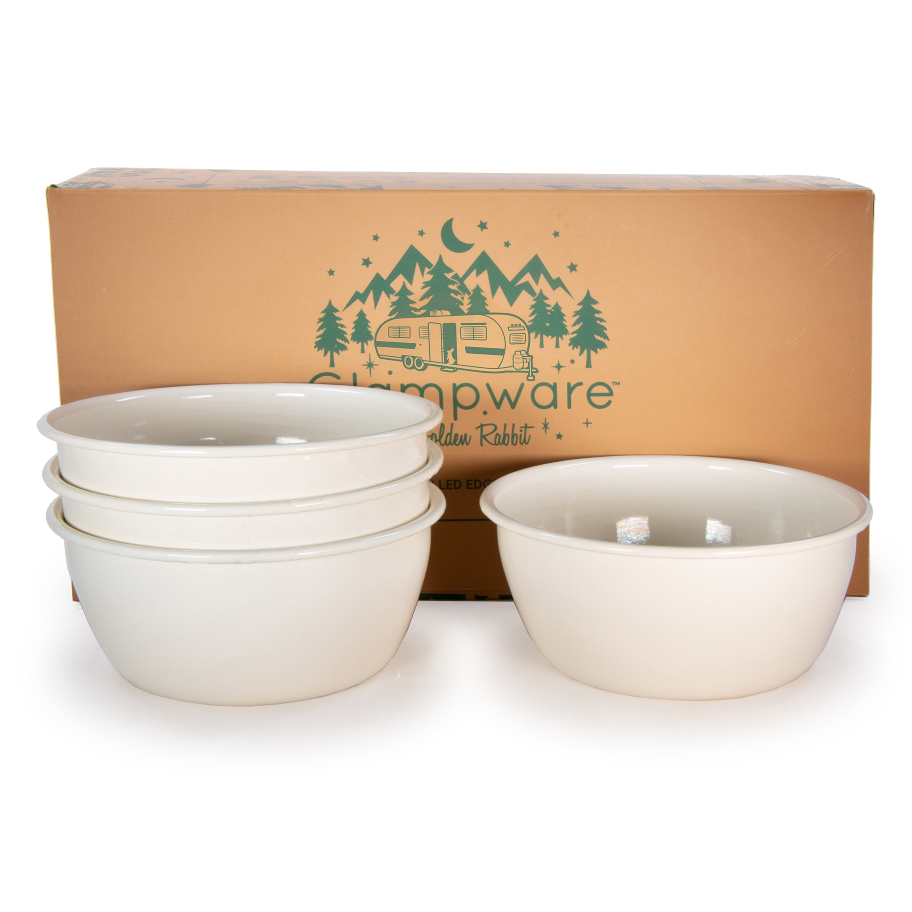 Rolled Cream Bowl Set/4