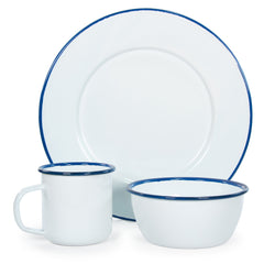 Rolled Cobalt Rim Bowl Set/4