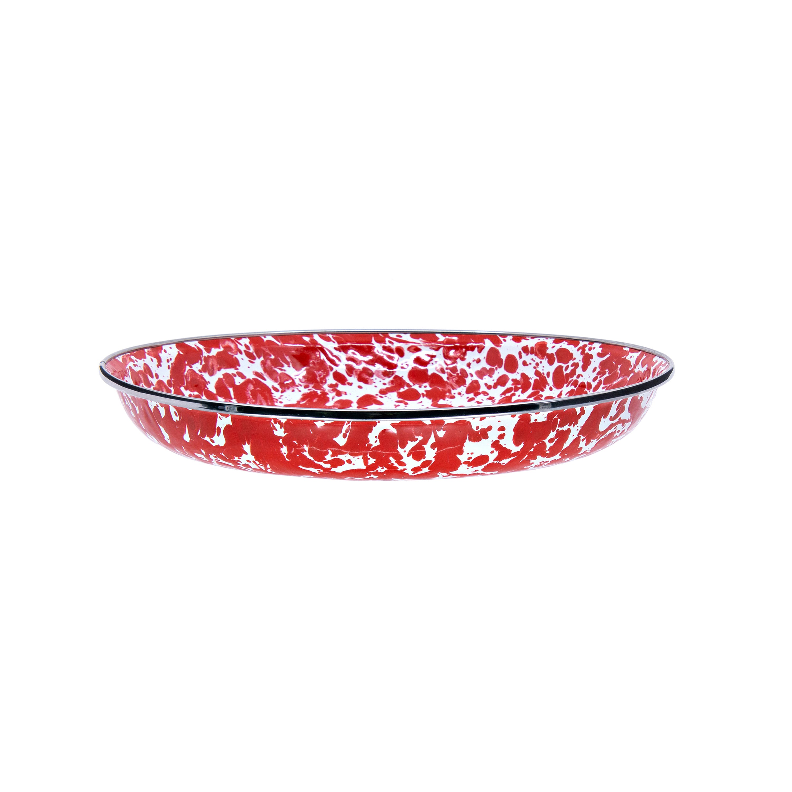 RD04S4 - Set of 4 Red Swirl Pasta Plates Image 2