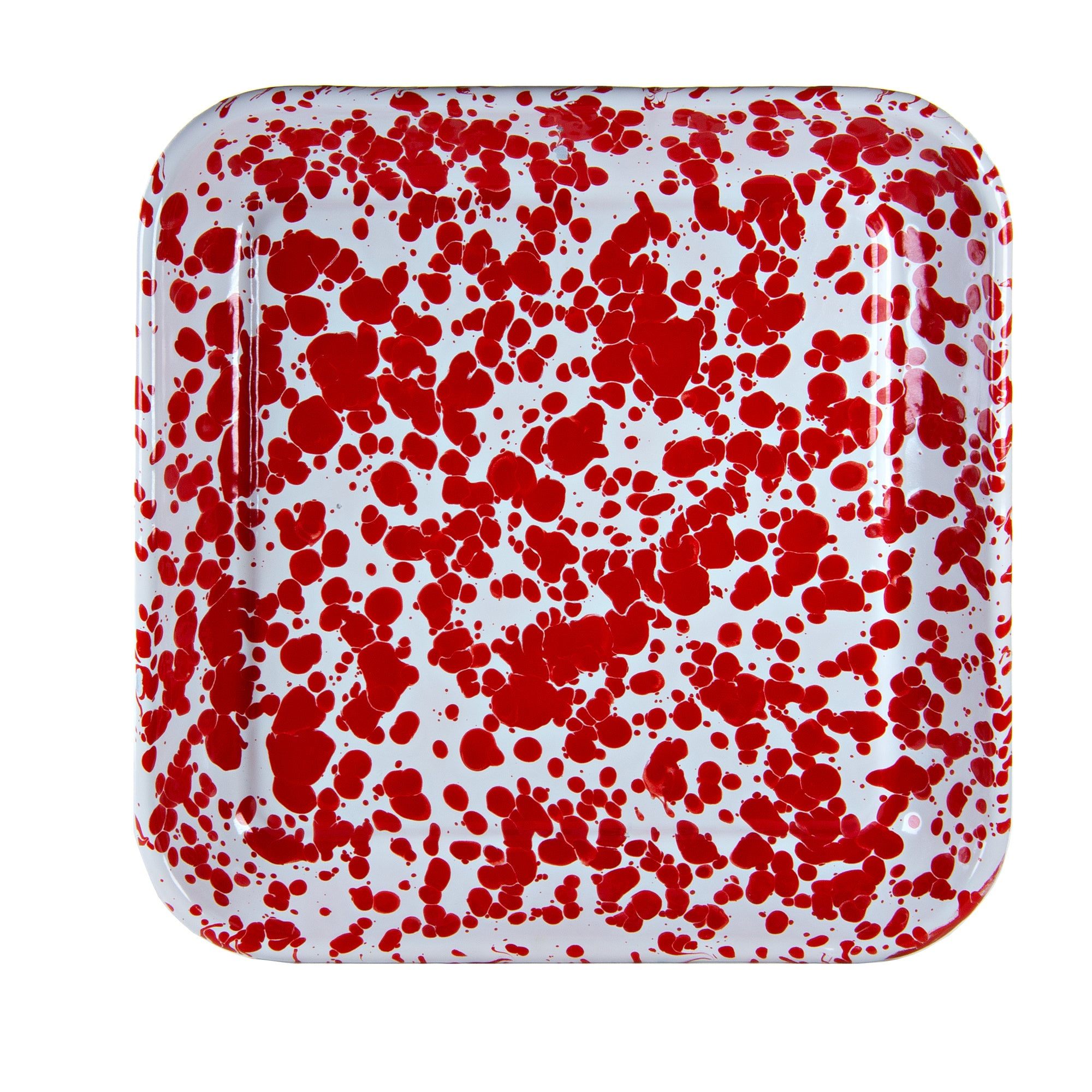RD09S2 - Set of 2 Red Swirl Square Trays Product 2
