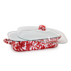 Red Swirl Roasting Pan