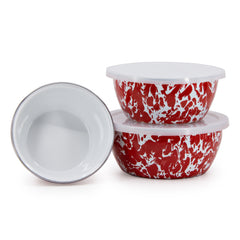 RD30 - Red Swirl Nesting Bowls Image 1