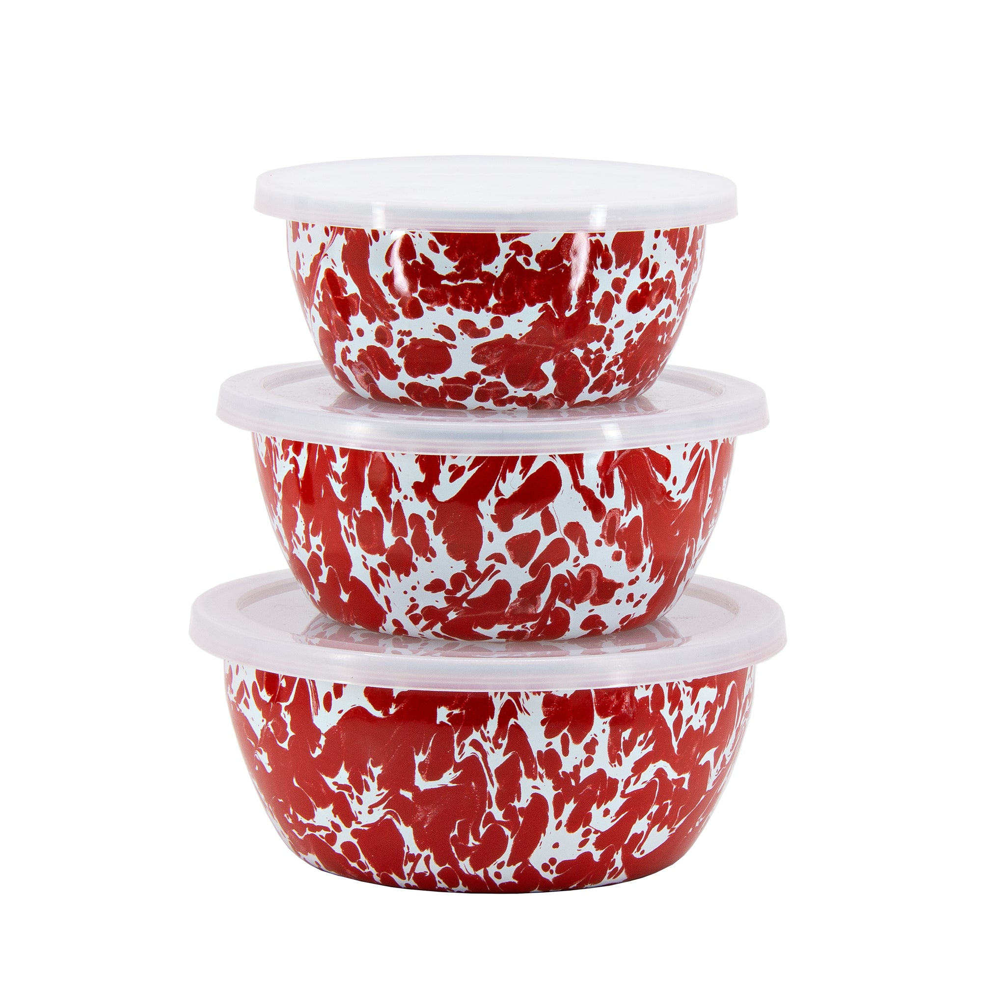 RD30 - Red Swirl Nesting Bowls Image 2