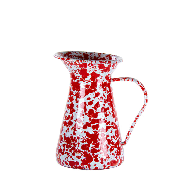 RD33 - Red Swirl - Enamelware- Small Pitcher by Golden Rabbit
