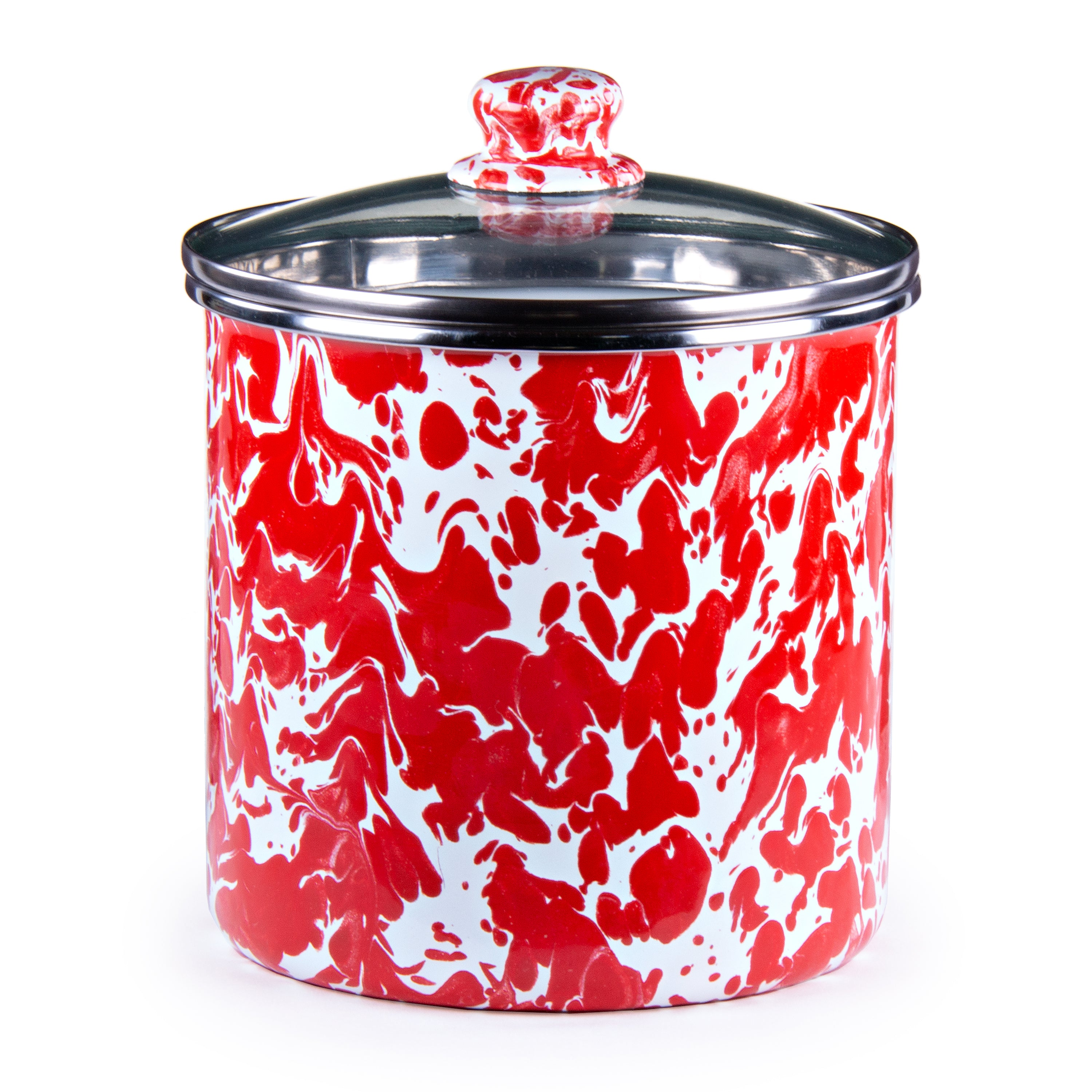 RD38 - Red Swirl Canister Product 2