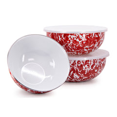 RD54 - Red Swirl Mixing Bowls Image 1