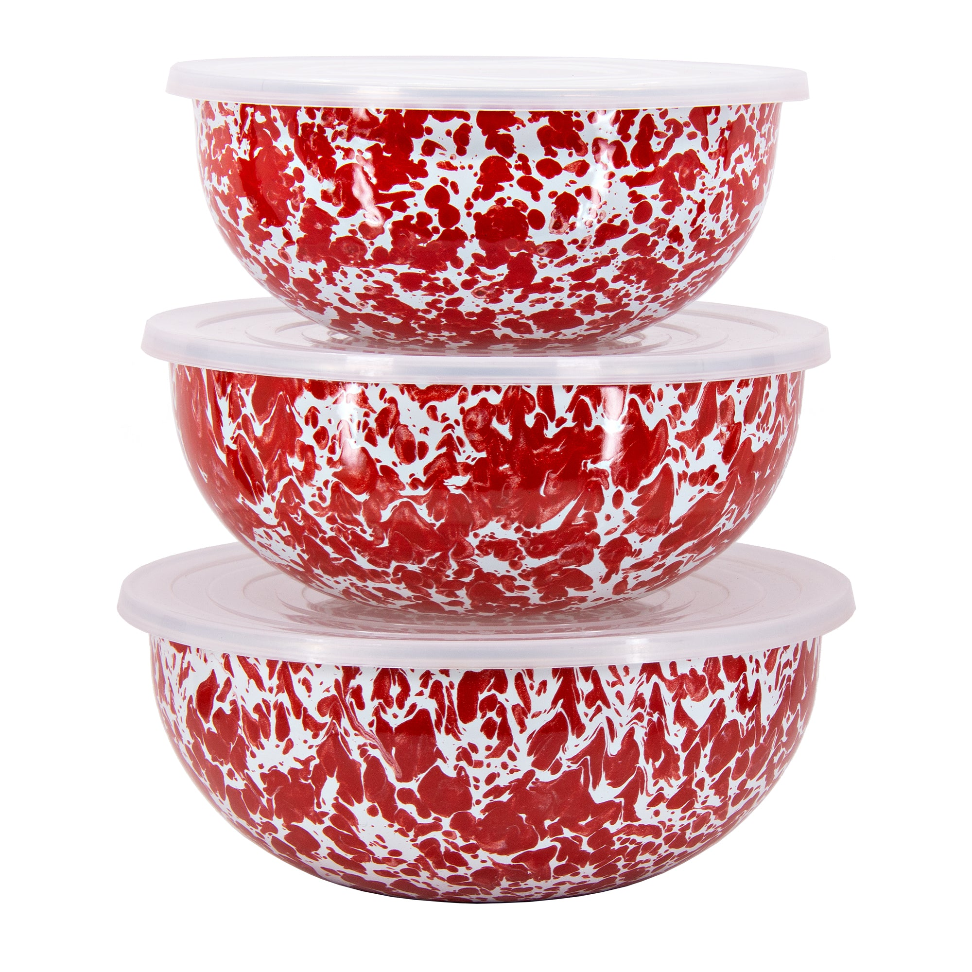 RD54 - Red Swirl Mixing Bowls Image 2