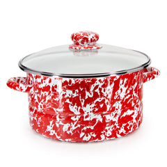 RD72 - Red Swirl 6qt Stock Pot Image 1