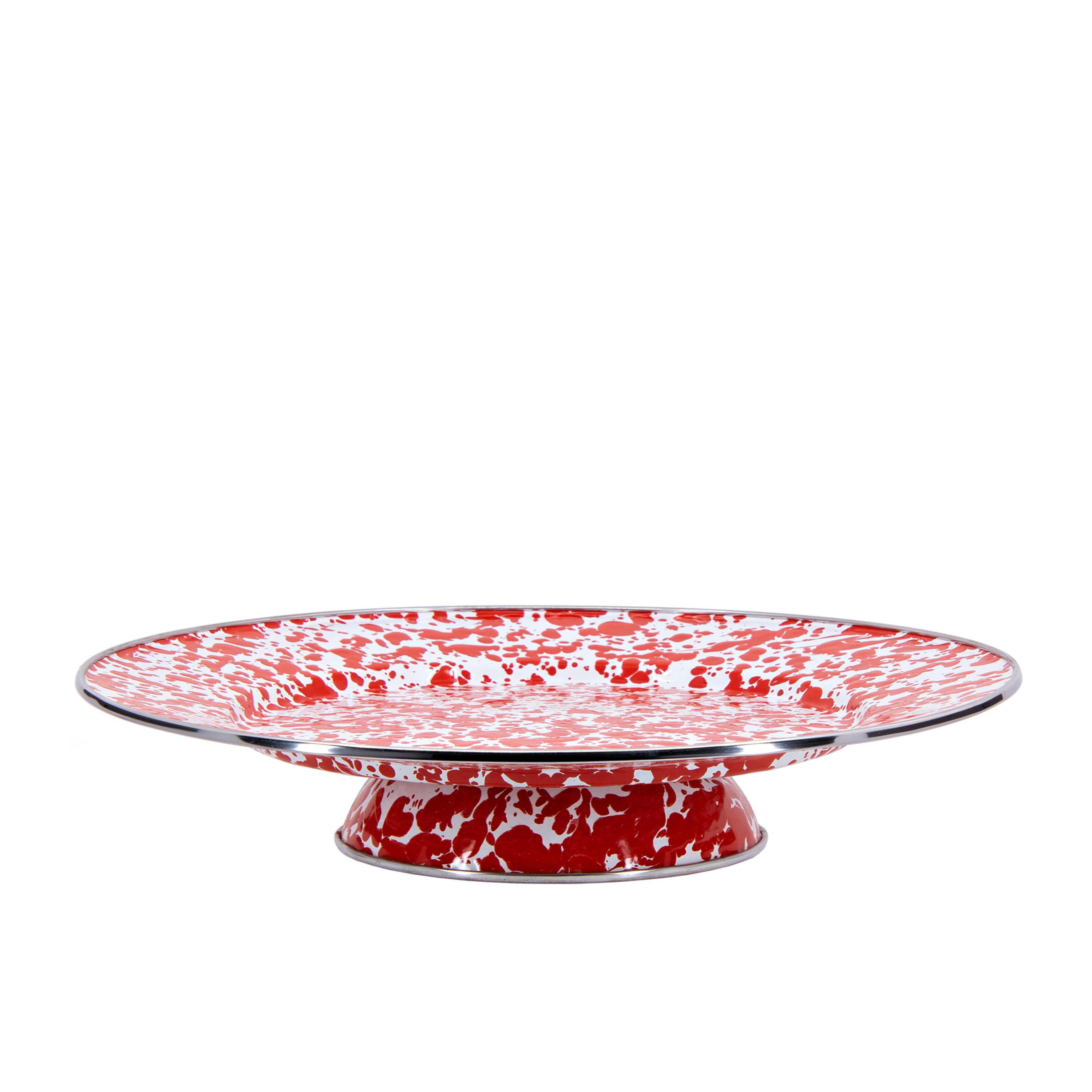 RD76 - Red Swirl Cake Plate Image 1