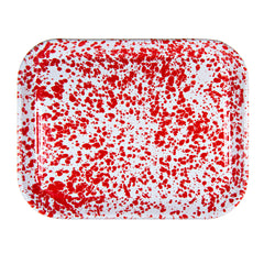 RD98 - Red Swirl Half Sheet Tray Image 1