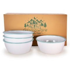 RGW93 - Rolled Sea Glass Rim Bowl Set/4 Product 1