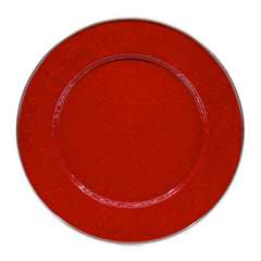 RR07S4 - Set of 4 Solid Red Dinner Plates Image 2