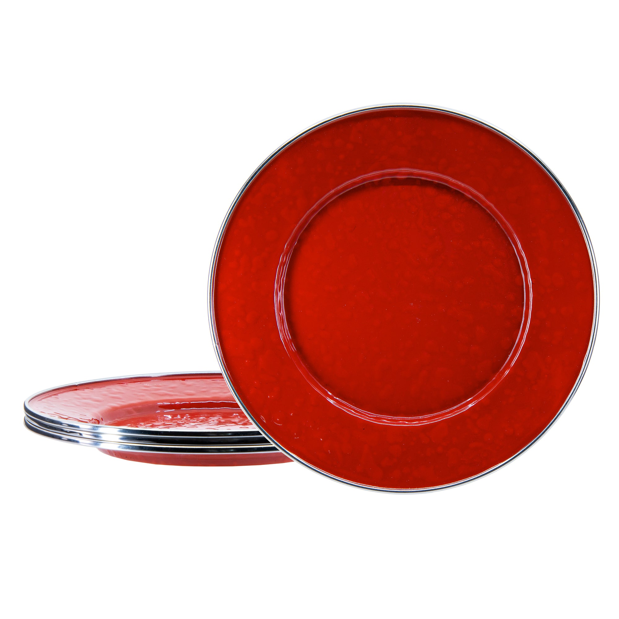 RR11S4 - Set of 4 Solid Red Sandwich Plates Image 1