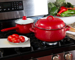 Solid Red Dutch Oven