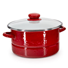 RR72 - Solid Red Pattern - 6qt Stock Pot