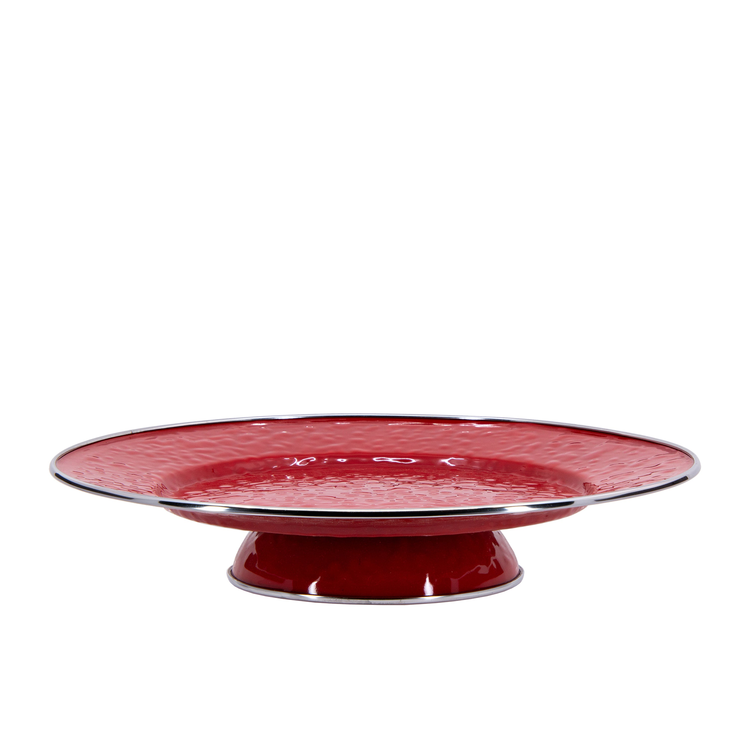 RR76 - Solid Red Cake Plate Image 1