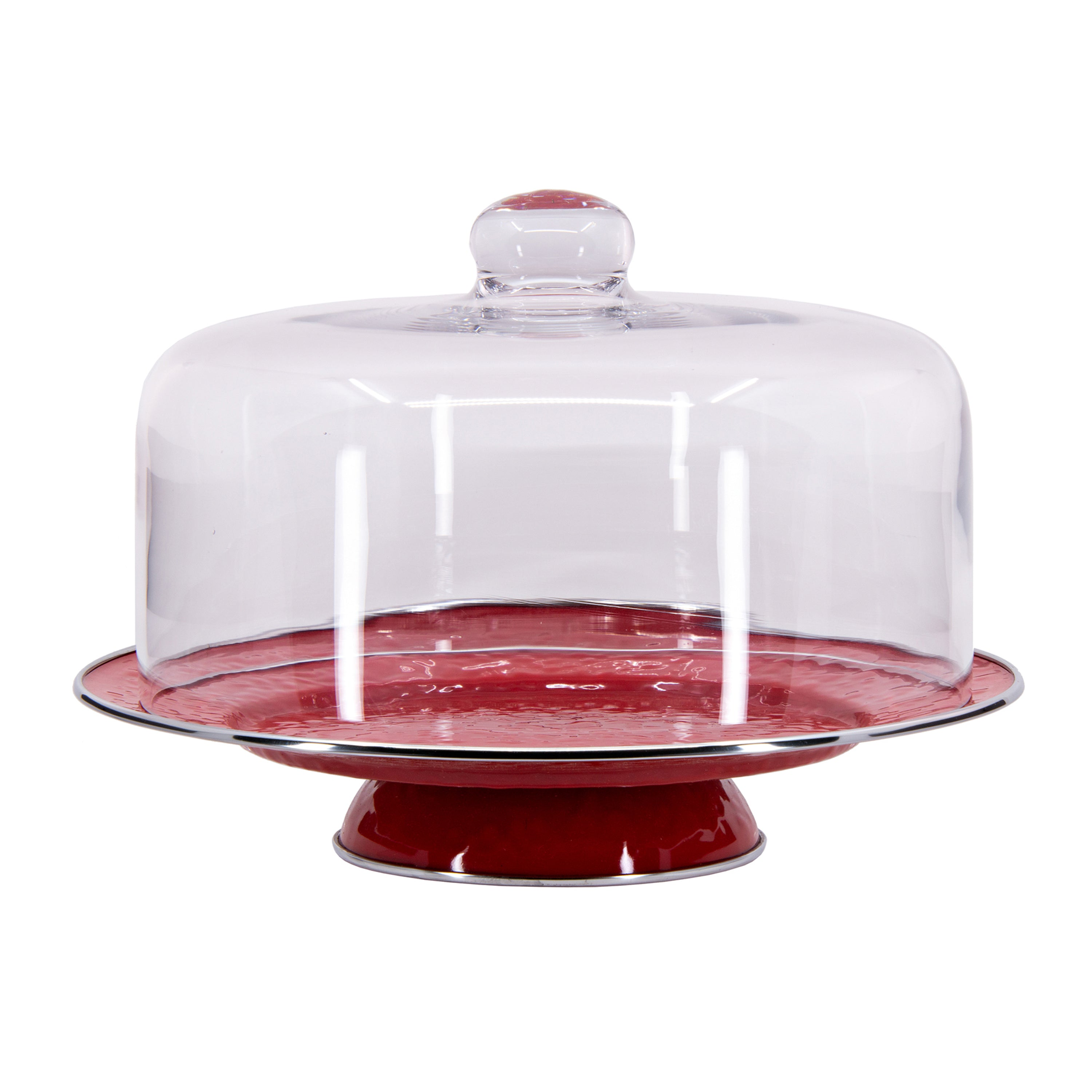 RR76 - Solid Red Cake Plate Image 2