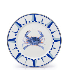 SE07S4 - Set of 4 Blue Crab Dinner Plates Product 1