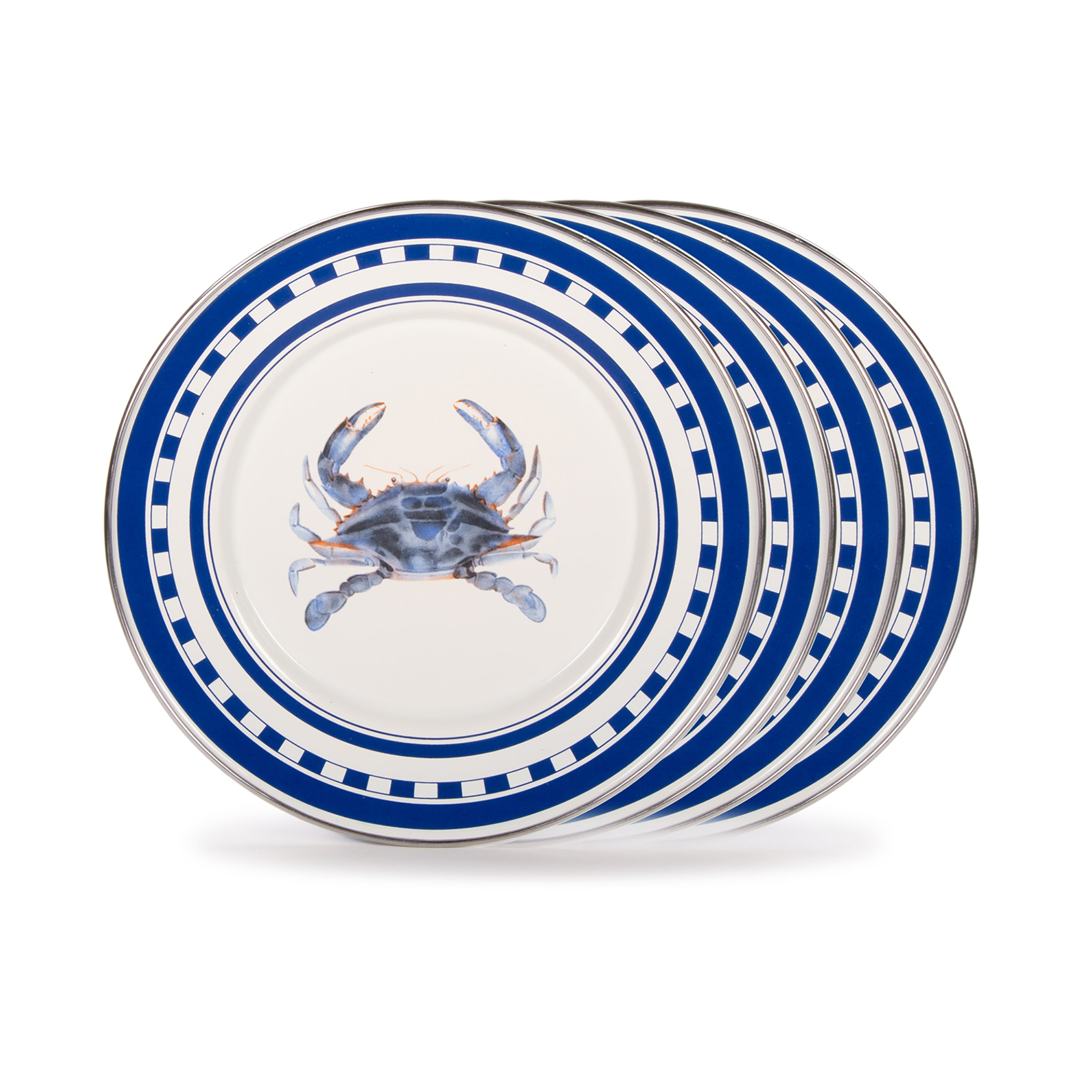 SE11S4 - Set of 4 Blue Crab Sandwich Plates Image 1