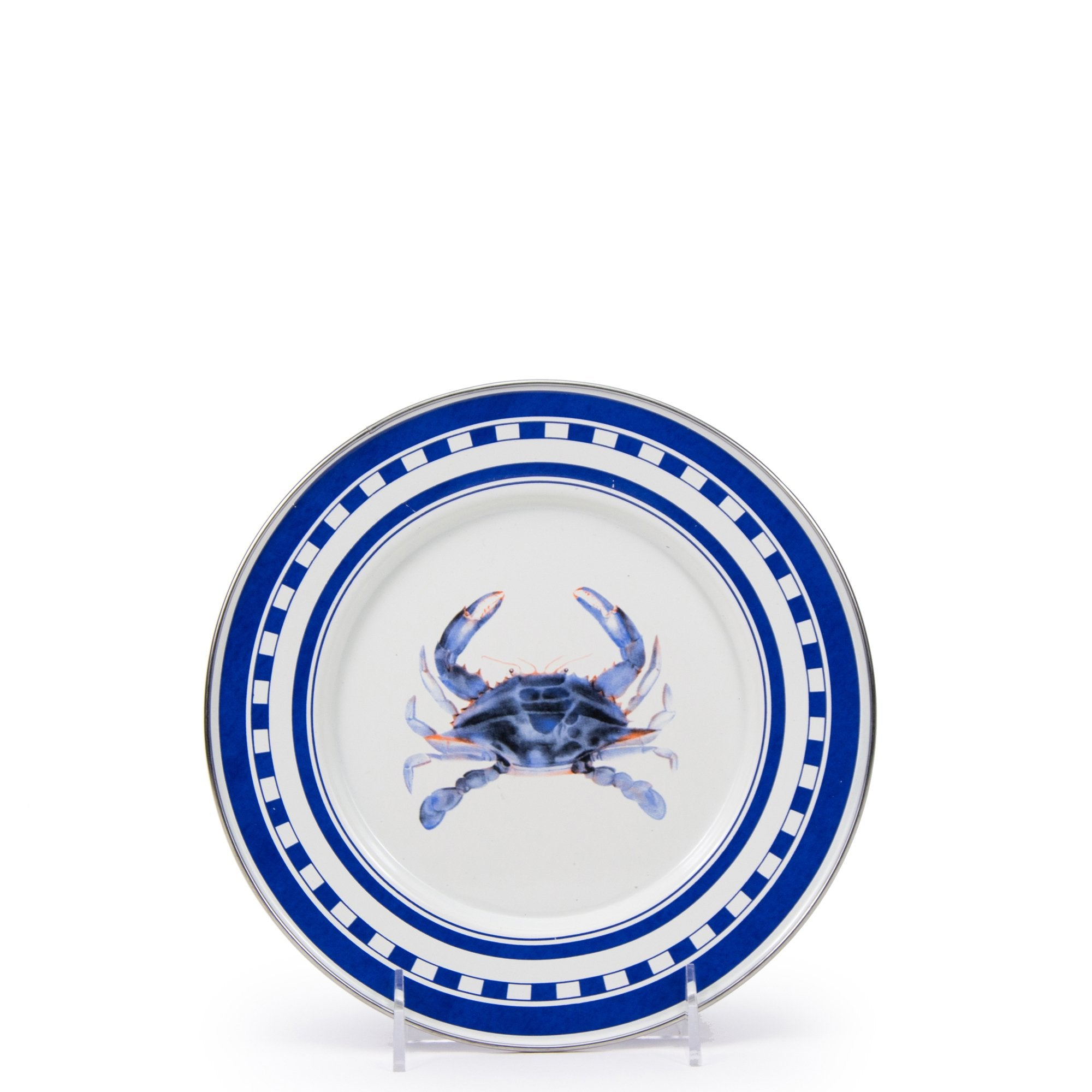 SE07S4 - Set of 4 Blue Crab Dinner Plates Image 2