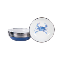SE59S6 - Set of 6 Blue Crab Tasting Dishes Image 1