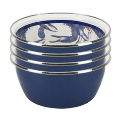 SE61S4 - Set of 4 Blue Crab Salad Bowls Image 1