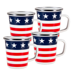 SS66S4 - Set of 4 Stars & Stripes Latte Mugs Image 1