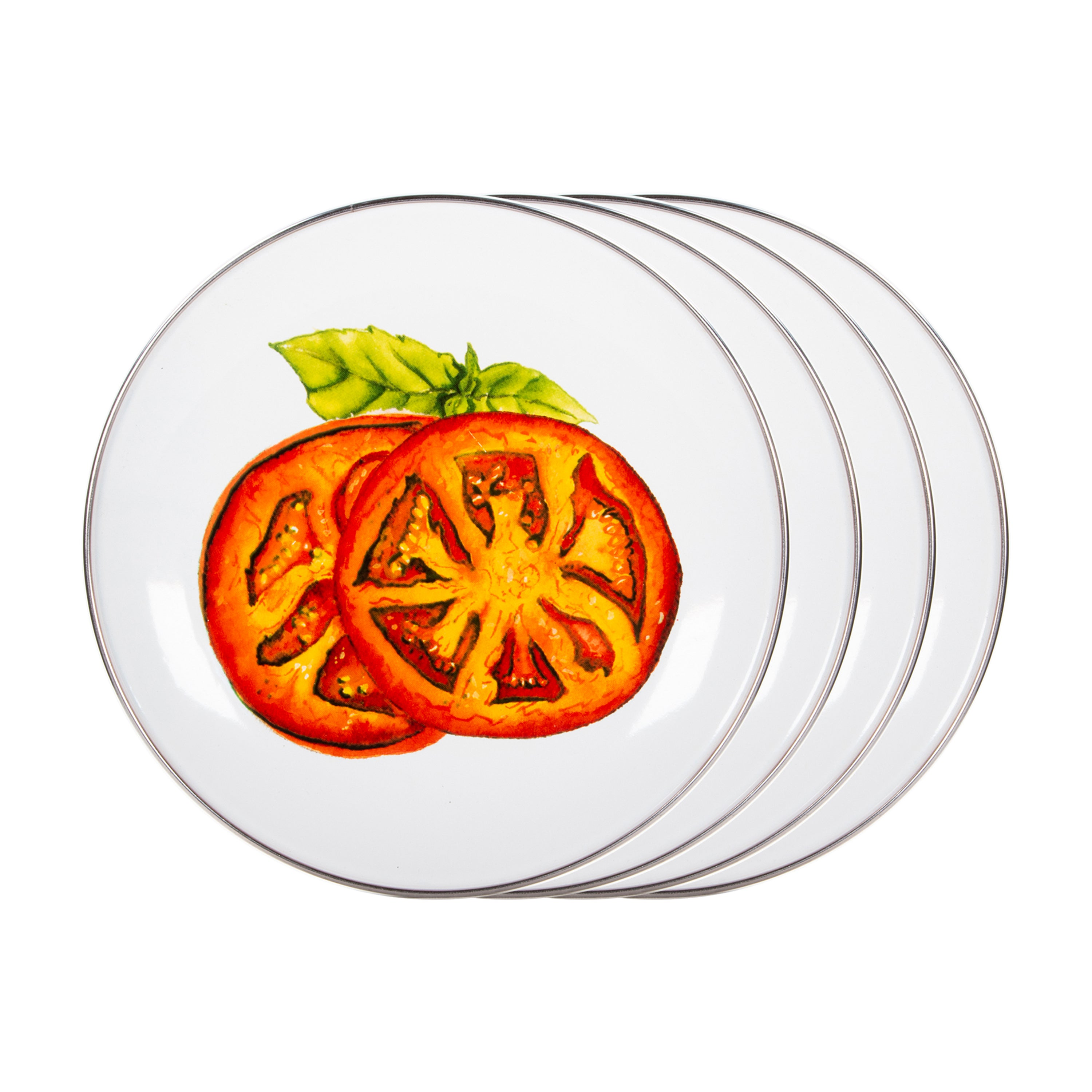 TM69S4 - Set of 4 Tomatoes Sandwich Plates Image 1