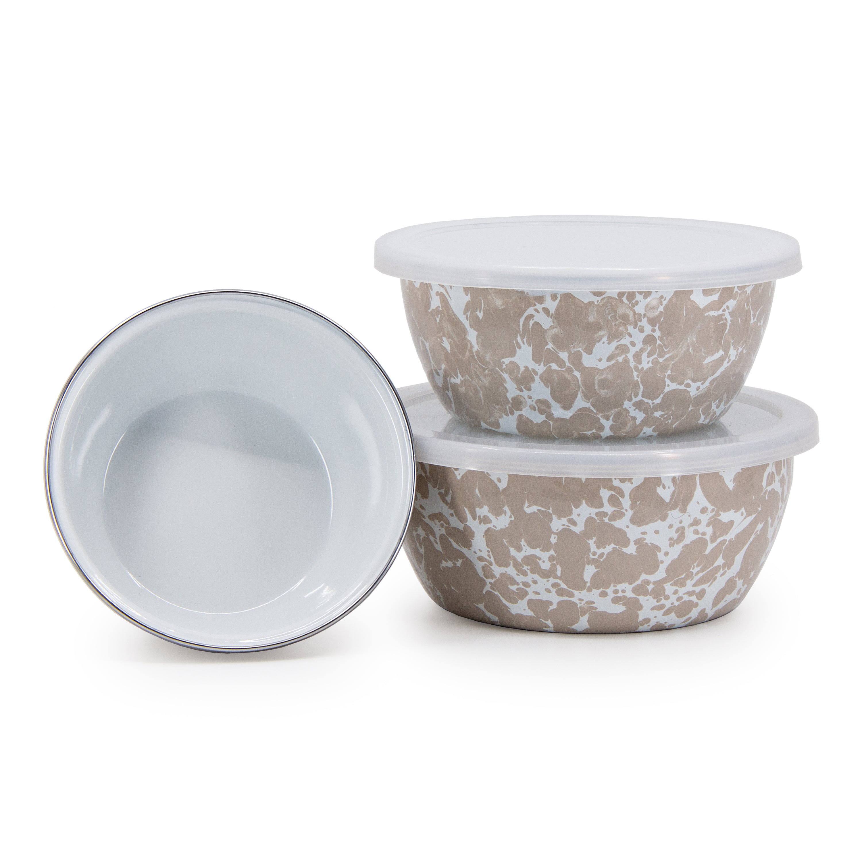 TP30 - Taupe Swirl Nesting Bowls Image 1