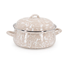 Taupe Swirl Dutch Oven