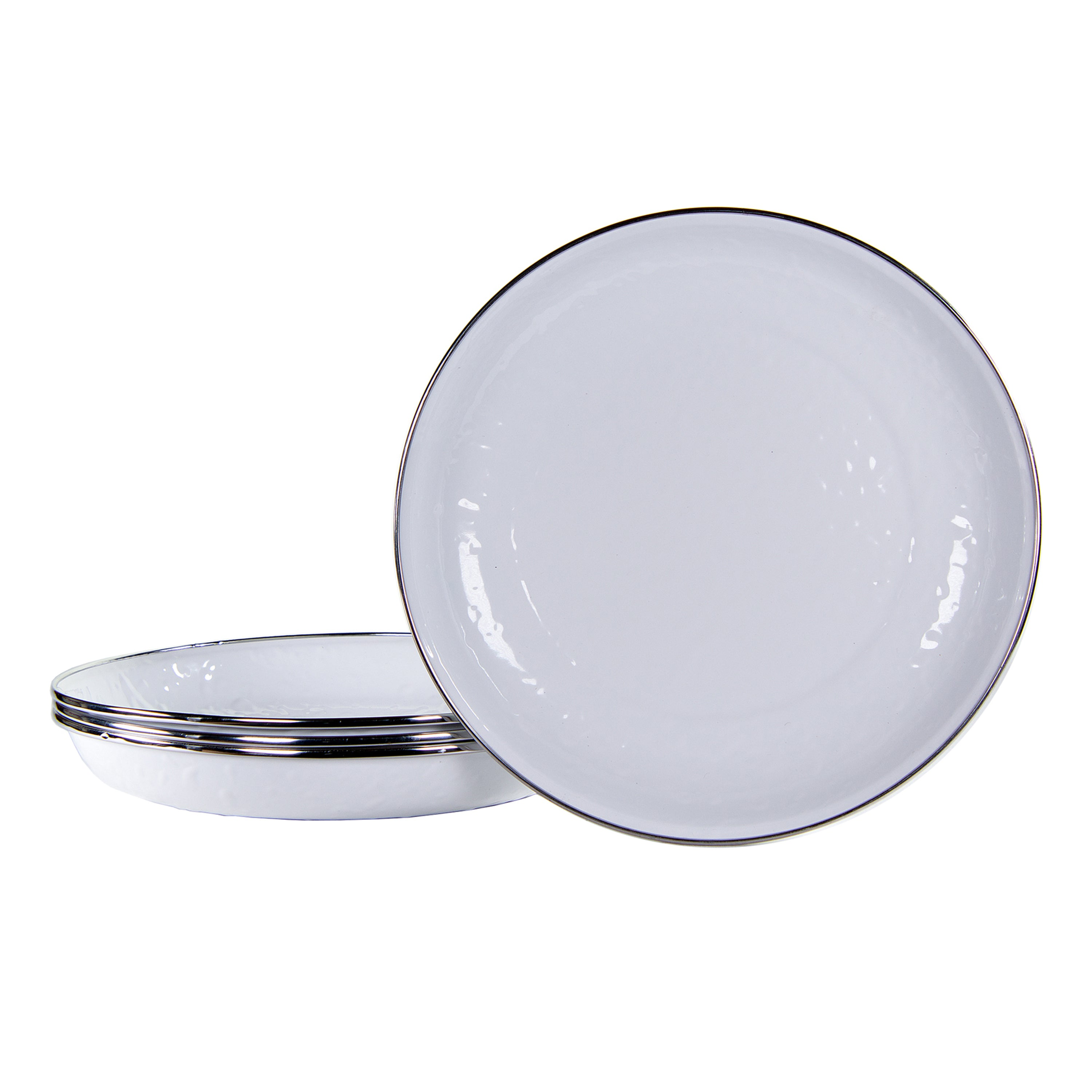 WW04S4 - Set of 4 Solid White Pasta Plates Image 1