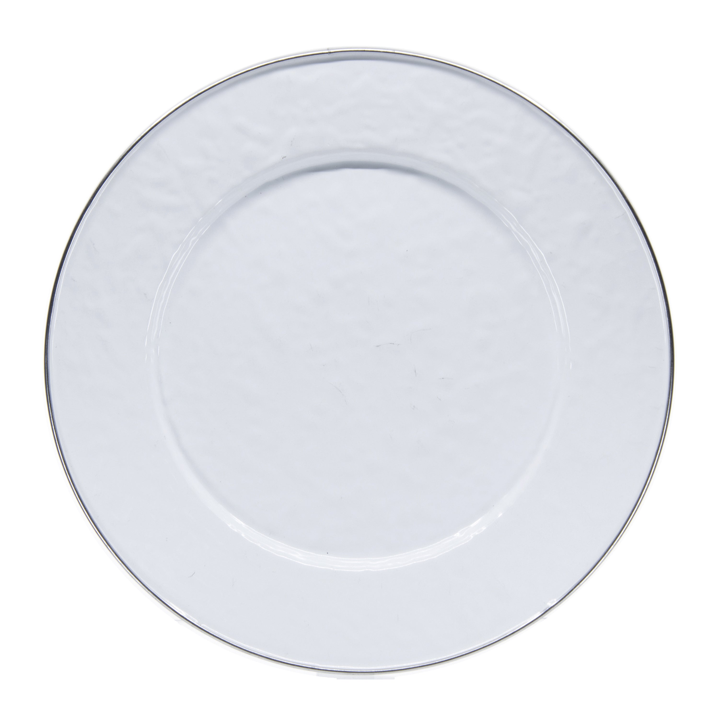 WW07S4 - Set of 4 Solid White Dinner Plates Image 2
