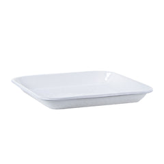 WW09S2 - Set of 2 Solid White Square Trays Image 3