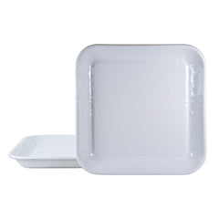 WW09S2 - Set of 2 Solid White Square Trays Image 1