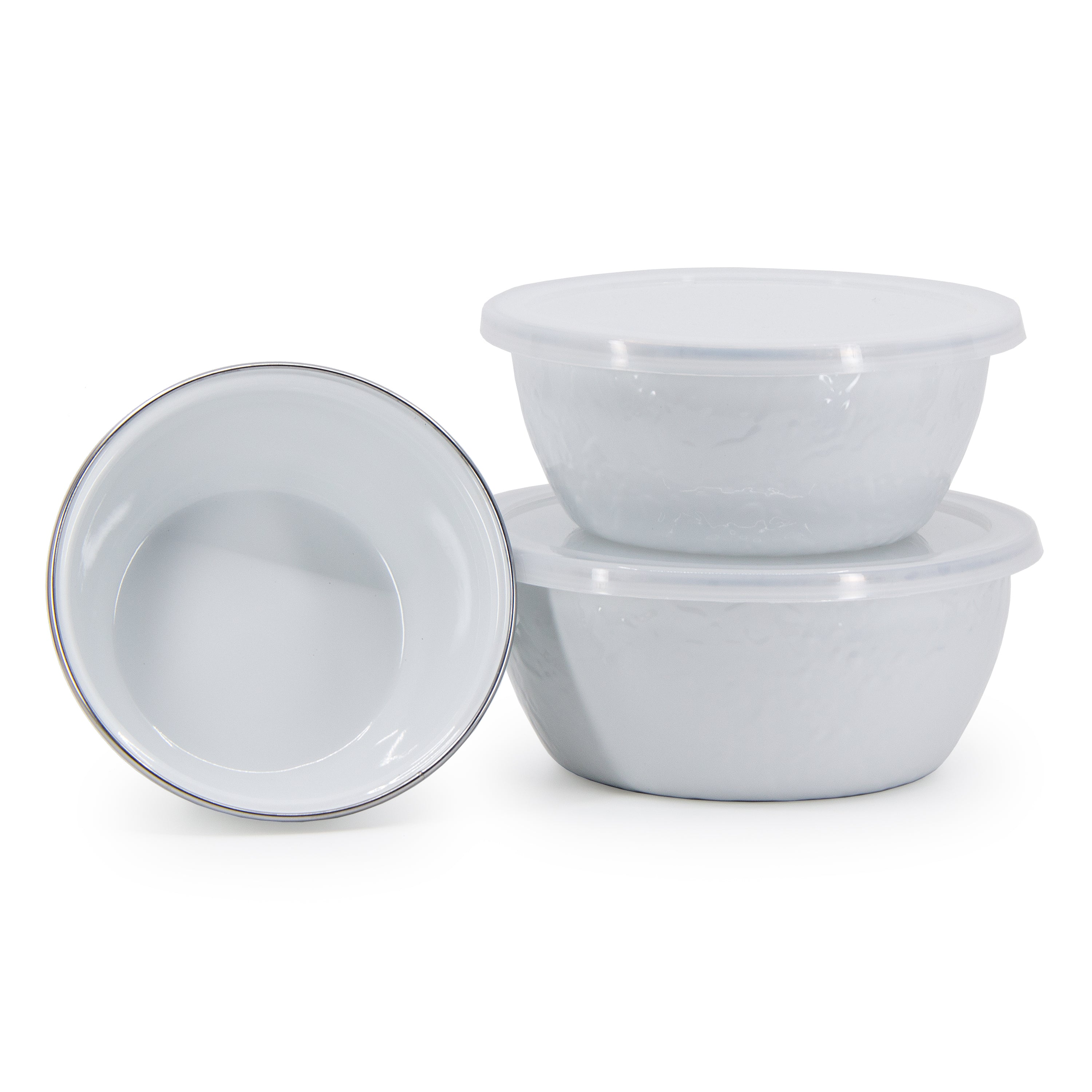 WW30 - Solid White Nesting Bowls Image 1