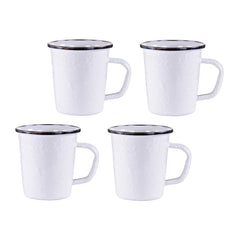 WW66S4 - Set of 4 Solid White Latte Mugs Image 1
