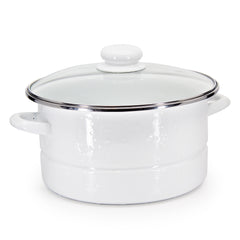 WW72 - Solid White Pattern - 6qt Stock Pot