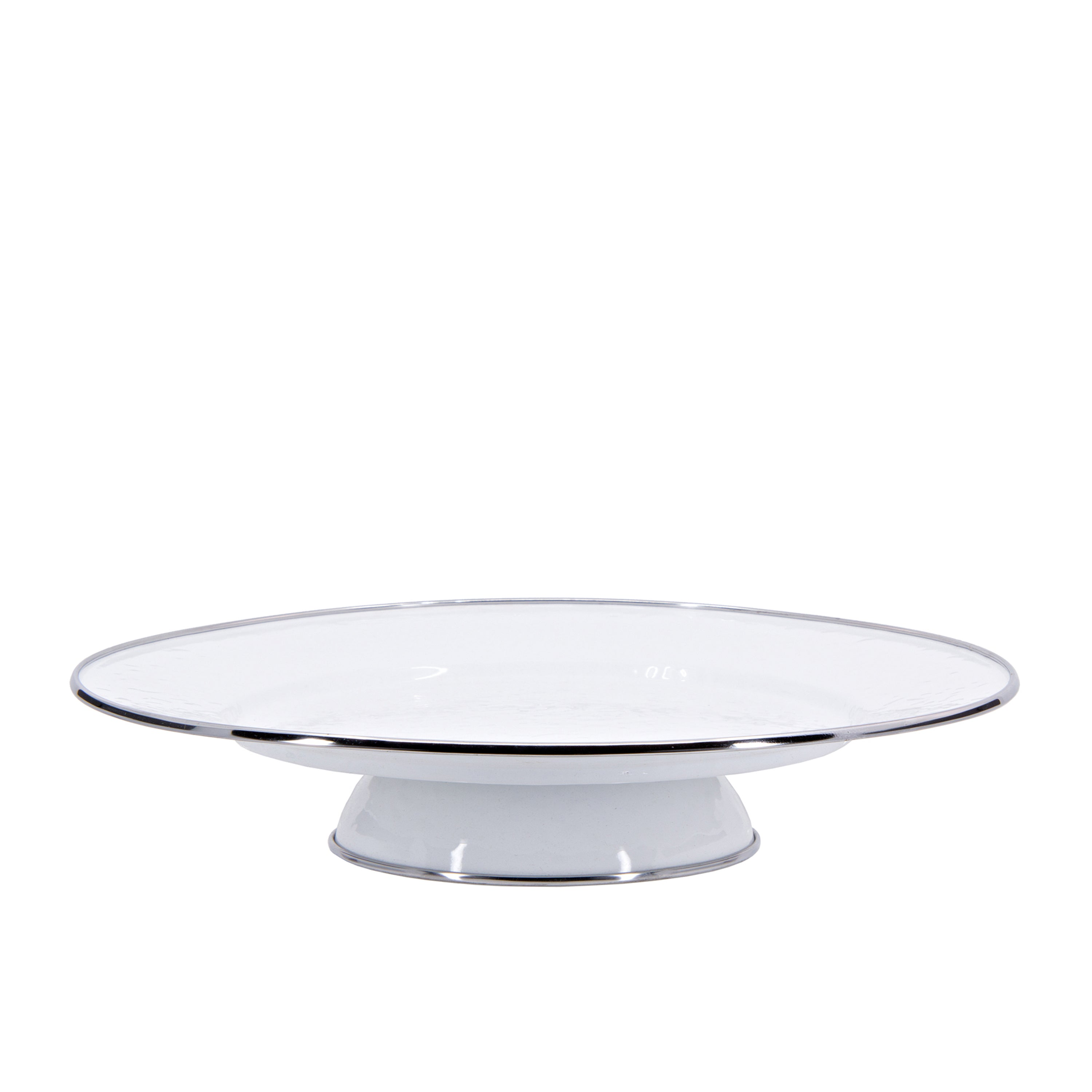 WW76 - Solid White Cake Plate Image 1