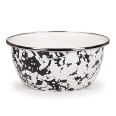 BL60S4 - Set of 4 Black Swirl Soup Bowls Image 2