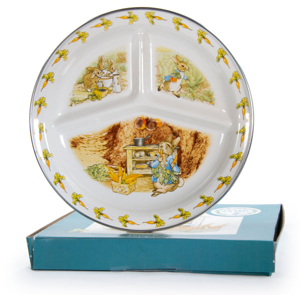 BP16 - Enamelware Peter Rabbit Toddler Plate by Golden Rabbit