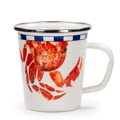 CR66 - Crab House Pattern - Latte Mug