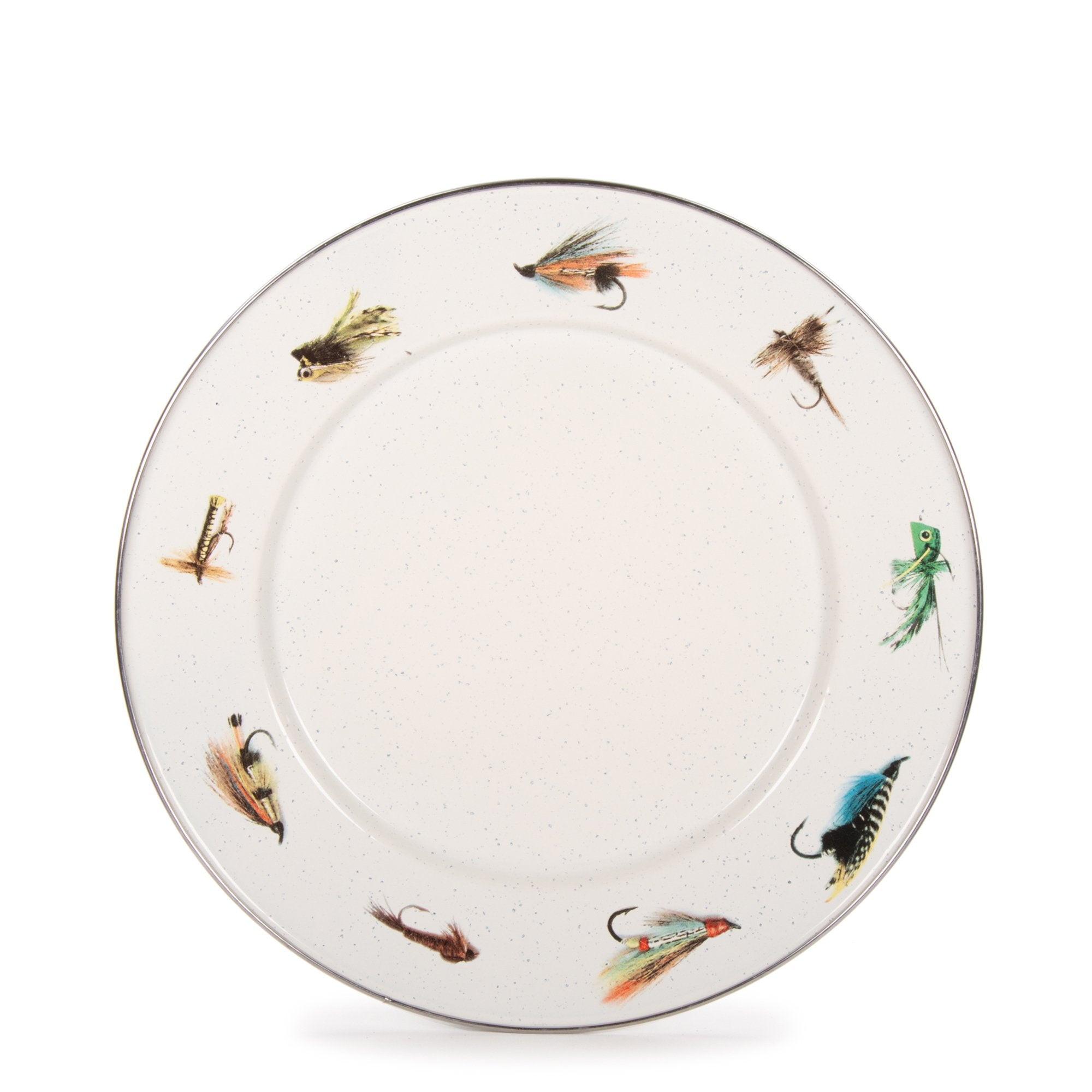 FF07S4 - Set of 4 Fishing Fly Dinner Plates Product 1