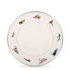 FF07S4 - Set of 4 Fishing Fly Dinner Plates Image 1